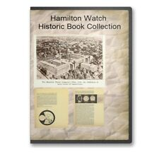 Hamilton Electric Watch Service Repair Manual + Watch History - 3 Books CD B497