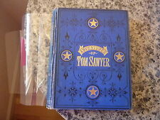 The Adventures of Tom Sawyer by Mark Twain. Later edition in original blue cloth