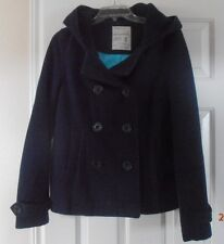 Aeropostale Wool Peacoat with Hood Size M Keep you warm Be ready for Winter
