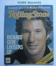 ROLLING STONE MAGAZINE - Issue 379 September 30th - Richard Gere / Roger Daltrey