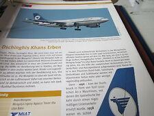 Airlines Archiv Mongolei Mongolian Airlines MIAT DschingisKhan´s Erben 4S
