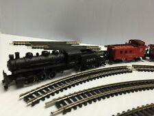 Bachmann N Scale Train 3283 Tender with Extra Cars & Track