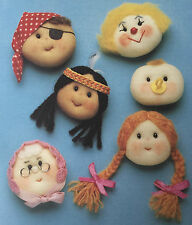 Sewing pattern jean greenhowe grimaces broche pirate baby indian clown rare
