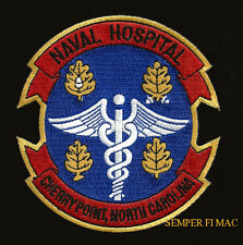 CHERRY POINT NC US NAVAL HOSPITAL PATCH PIN UP US NAVY CORPSMAN DOCTOR DOC NURSE