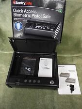 AS IS Sentry Safe Quick Access Pistol Gun Safe QAP1BE **BIOMETRICS NOT WORKING**