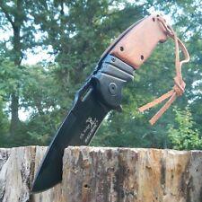 """8.5"""" ELK RIDGE Wood Hunting SPRING ASSISTED OPEN Gentleman Folding POCKET KNIFE"""