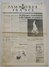 Jamborée France 6 - 21 Aout 1947 ; Journal N° 13 du 18 Août  Scouts P JOUBERT