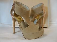 Michael Kors 8 M Leighton Nude Open Toe Suede Heels New Womens Shoes NWB