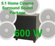 5.1 SURROUND SOUND HOME CINEMA CEILING SPEAKERS + ACTIVE SUB BASS HIFI PACKAGE B