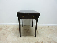 Pennsylvania House Inlay Banded Mahogany Chippendale drop Leaf Lamp End Table