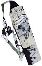 Vache véritable cheveux dos cuir side flèche carquois archery produit AQ-118 h