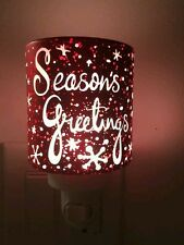 """Authentic Scentsy Warmer """"SEASONS GREETINGS"""" Plug In. Holiday Edition"""