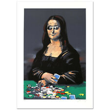 "Waldemar Swierzy ""Poker Face"" Ltd Hand Pulled Original Lithograph MONA LISA COA"