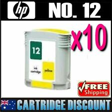 10x Yellow Ink for HP 12 C4806A Business Inkjet 3000 3000n 3000dtn