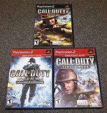 Call of Duty Finest Hour, 2 & World at War Final Fronts PlayStation 2 PS2 Games