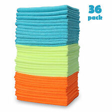 36 Pack Large Microfiber Detailing Towel Home Rag Car Cleaning Washing Cloths