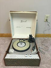Vintage Birch MA-23 Portable Record Player (16, 33, 45, 78 rpm) (powers on)