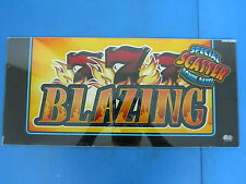 Bally Gaming Inc Blazing 777 Special Scatter Bonus Slot Machine Topper Glass B