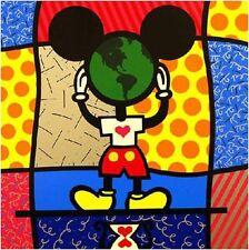 """Romero Britto   """"Mickey's World""""               Print     MAKE OFFER"""