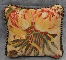 Pillow made w/ Ralph Lauren Guinevere Medieval Brown Floral Fabric 6x6 cording