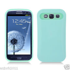 Samsung Galaxy S3 i9300 Hybrid Hard Case Skin Pastel Cover Light Green