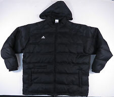 ADIDAS BLACK DUCK DOWN FILLED HOODED PUFFER WINTER SKI JACKET COAT EUC MENS 3XL