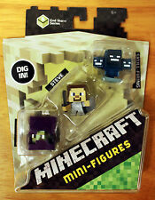 END STONE Series 6 Minecraft mini-figures 3-pack - SKULL-FIRING WITHER exclusive