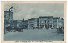 1931 Roma - p.le Porta Pia - ministero lavori pubblici - carrozze e tram doppio