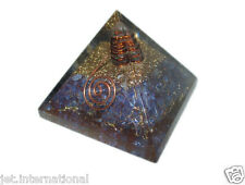 Exquisite A++ Indigo Chakra Orgone Pyramid Free Booklet Jet International