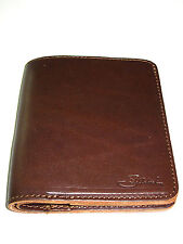 NEW! Saddleback Leather LARGE BIFOLD WALLET in Dark Coffee Brown DCB RFID Shield