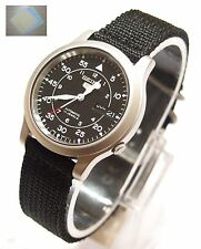 SNK809 SEIKO 5 Military Style Automatic Men's Black Watch SNK809K2 + Gift