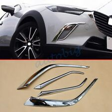 Chrome Front Fog Light For Mazda CX3 2016+ Accessories Decoration Trim Molding