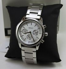 NEW AUTHENTIC DKNY ROCKAWAY SILVER CHRONOGRAPH LADIES WOMEN'S NY2364 WATCH