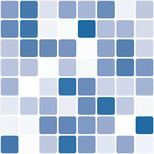 Blue Mosaic Tile Transfer Stickers 149mm square (Pack of 8) for Bathroom Kitchen
