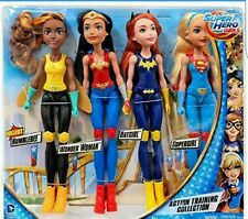 DC Super Hero Girls 4 Dolls Wonder Woman Bumblebee Batgirl Action Training