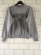 UNISEX VINTAGE RETRO GREY PRO COLLEGE SWEATSHIRT SWEATER SIZE SMALL #1.7