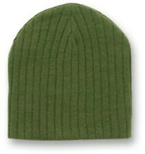 Dark Army Green Cable Beanie Cap Skully Winter Stocking Hat Olive Drab Military