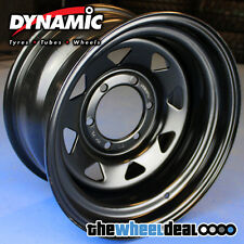 Dynamic Black Sunraysia Wheel Rim 15x8 6/139.7 -22 Patrol Hilux Landcruiser etc
