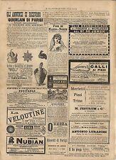 Stampa antica pubblicità OLIO DI FEGATO DI MERLUZZO ecc. 1887 Old antique print