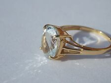 Stunning Top Quality Aquamarine Gem Set In 18ct Gold Ring MTGW 2cts