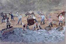 O / On3 / On30 / 1:48 - SET OF 13  FIGURES - Miners & Coolies (1840's to now...)