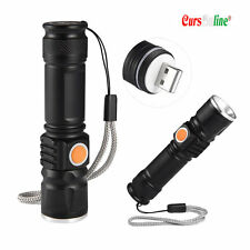 Mini Torcia Tascabile Zoom Luce Led Cree XM-L T6 Potentissima Ricaricabile USB