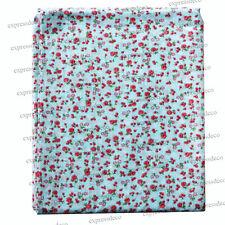 Tissu Bleu à Fleurs 45x50cm Coton Couture Patchwork Confection Vêtement Neuf