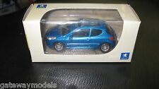 NOREV  1.64 PEUGEOT  207 METALLIC BLUE  GREAT LITTLE MODEL CAR