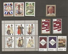 Latvia SC # 340-42, 348a,349-51, 352-54 All Complete year 1993. MNH