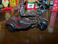 Champion Cast Iron Cop on motorcycle with sidecar cast iron wheels as well