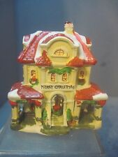 GENARIC SNOW VILLAGE CERAMIC MINIATURE CHRISTMAS MANOR