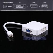 MINI DISPLAY PORT THUNDERBOLT TO VGA HDMI DVI ADAPTER FOR MACBOOK AIR PRO MAC