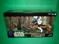 "Star Wars Speeder Bike with Biker Scout 12"" toy figure doll NEW UNOPENED vintage"