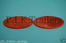 FREE P&P* 2 x Hella Oval RED Rear Reflectors Stick On - QUALITY Product